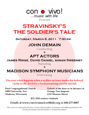 Stravinsky Soldier's Tale Production